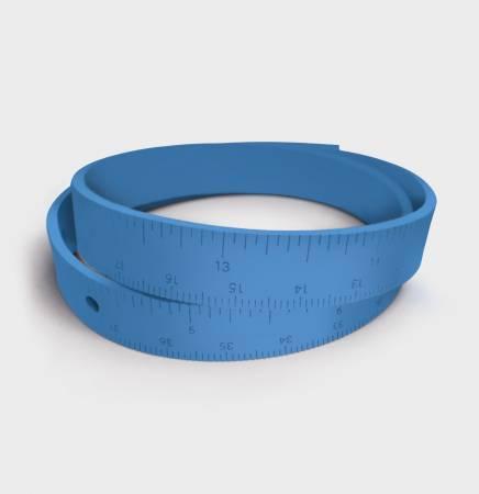 Rubber Wrist Ruler Blue - 18 Length