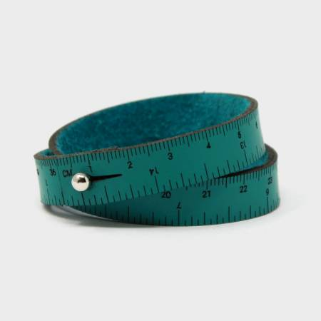 16in Wrist Ruler Bracelet - Teal