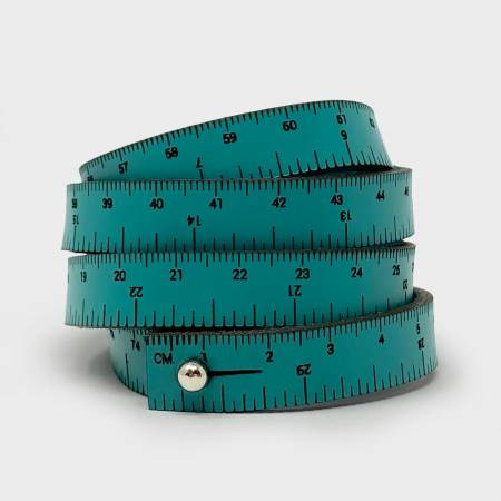 Crossover Industries Leather Wrist Ruler - Teal 30