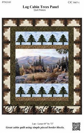 Log Cabin Trees Panel Pattern
