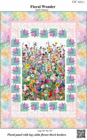 Castille ja Cotton Floral Wonder Quilt Pattern 56 x 76 CJC-54521