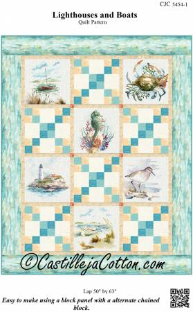 CJC-54541 Lighthouses and Boats Pattern