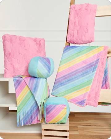 Cuddle Kit Rainbow Beginner Box, Learn to Sew w/Cuddle