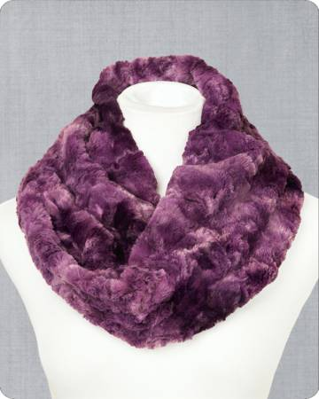 Infinity Cuddle Scarf Kit - Galaxy Plum 19in x 36in