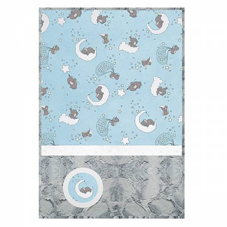 Cuddle Kit Lucky Stars Blue 28in x 41in