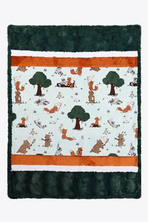 Shannon Cuddle Kit  Kritter Gitter  38 x 58 Blanket & 18 square Pillow