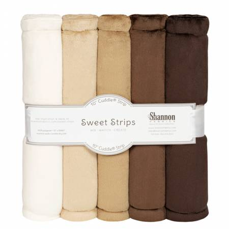 Solid Cuddle Strips 5 Pack of 10in Brown