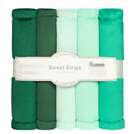 Solid Cuddle Strips 5 Pack of 10in Green