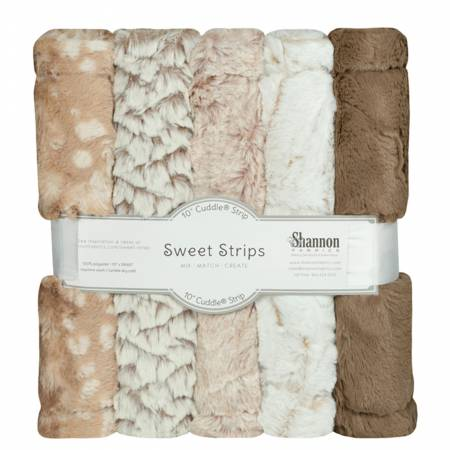 5 Pack of 10in Luxe Cuddle Strips Desert