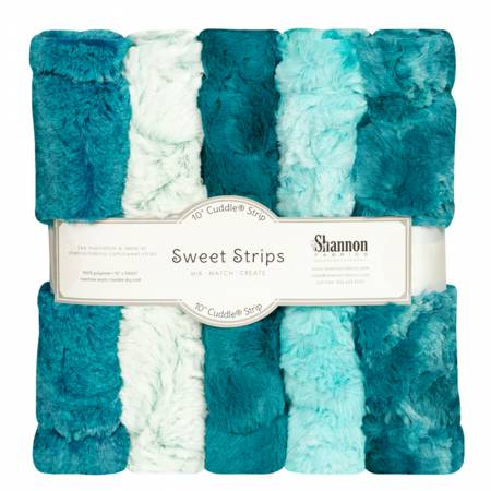 5 Pack of 10in Luxe Cuddle Strips Lagoon