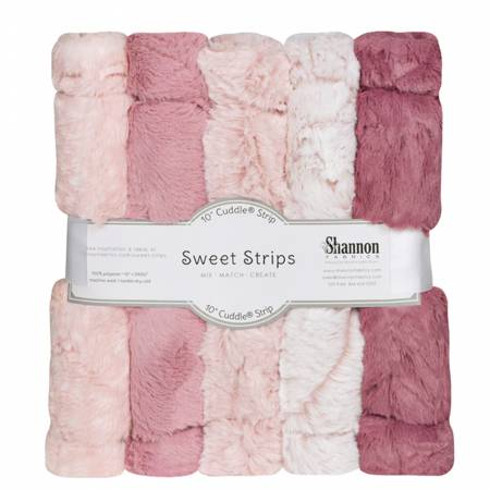 5 Pack of 10in Luxe Cuddle Strips Rose