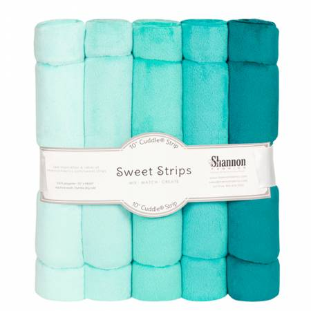 Solid Cuddle Strips 5 Pack of 10in Ocean