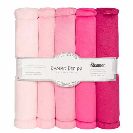 5 Pack of 10in Solid Cuddle Strips Pink