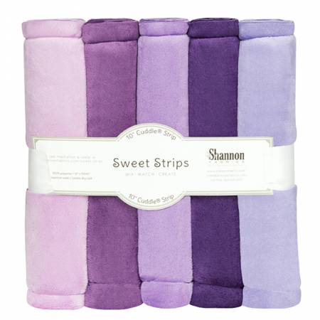 Solid Cuddle Strips  5 Pack of 10in Purple
