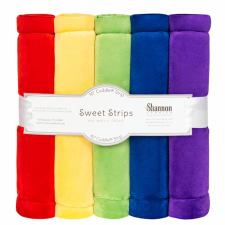 5 Pack of 10in Solid Cuddle Strips Rainbow