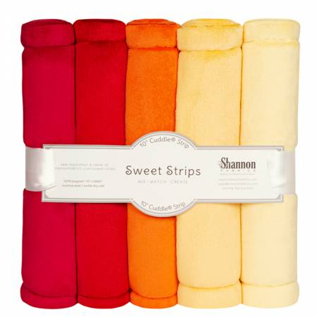 5 Pack of 10in Solid Cuddle Strips Sunset