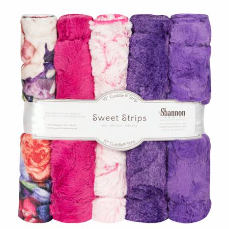 10in Luxe Cuddle Strips Peony