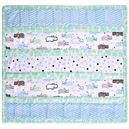 Cuddle Kit Wee Ones Handsome Hippo 27in x 27in