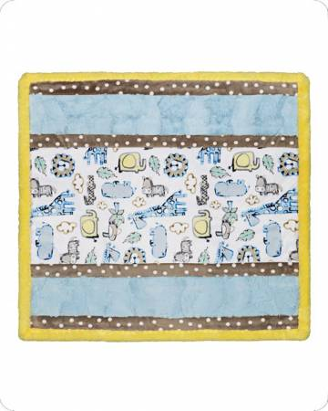 Shannon Cuddle Kit Wee Ones Lion Around Blue, 27in x 27in