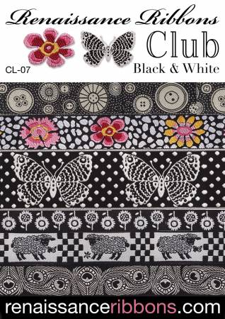 Woven Ribbon Designer Assortment Black and White