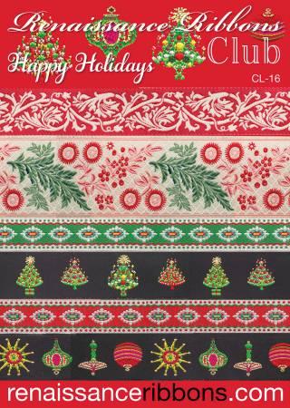 Woven Ribbon Designer Assortment Happy Holidays