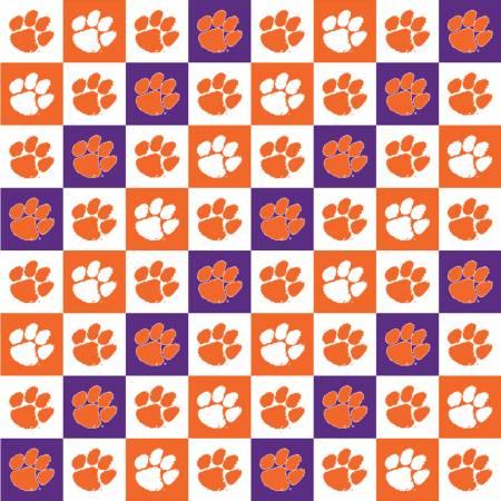 Clemson Tigers Squares Digitally Printed