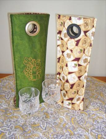 Cut Loose Wine Tote Pattern