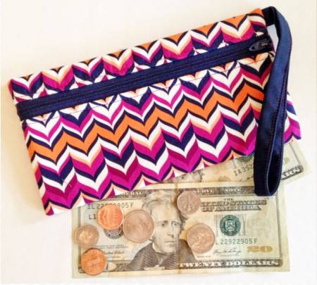 Stash Cash Zipped Bag Pattern CLPCLA030