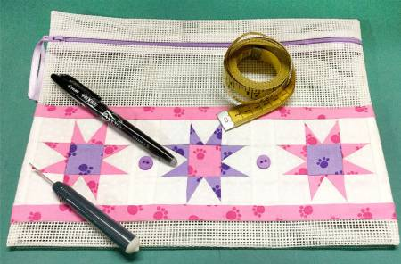 CLP-Strippy Stars Zipper Bag