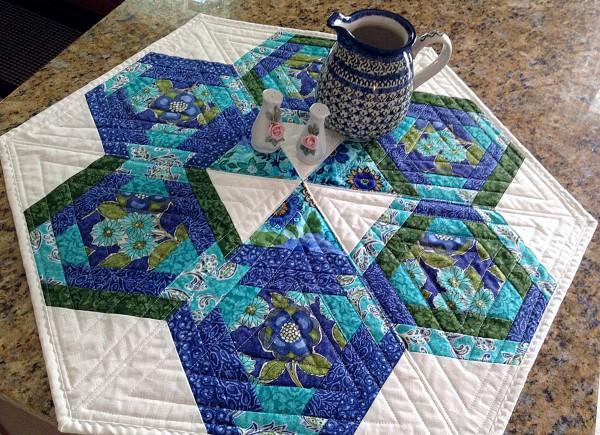 CLP Hexagons In Paradise Table Topper