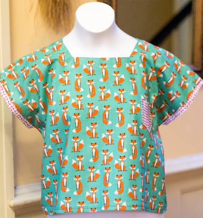 Fat quarter tee with pocket - pattern