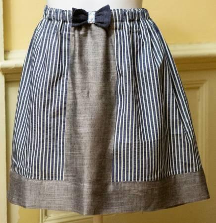 Fat quarter color block skirt pattern