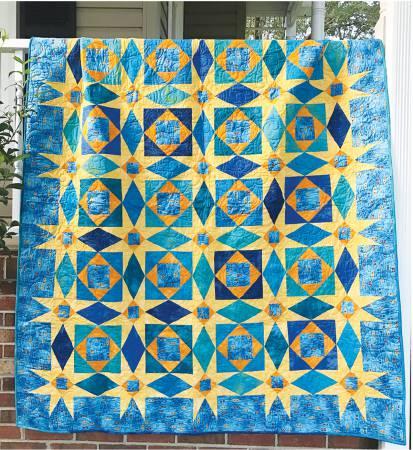 Cut Loose Press Starry Night Storm At Sea Pattern 64 x 76