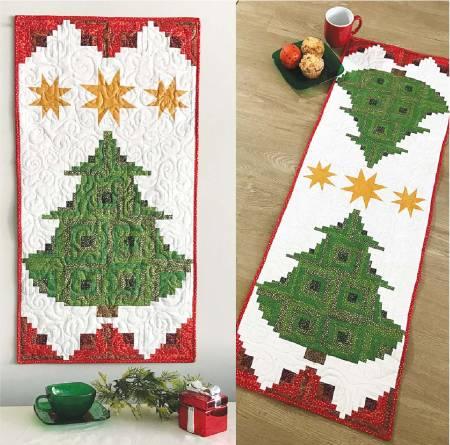 Pine Tree Banner or Table Runner - Pattern