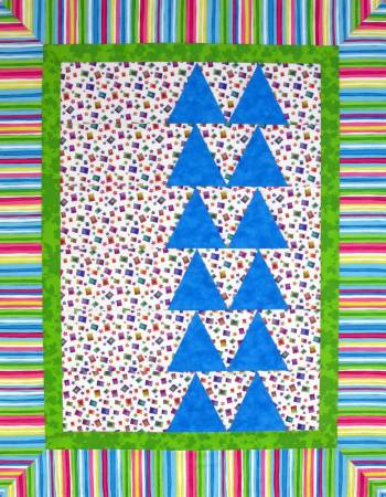CUT LOOSE PRESS  TRIANGLE IN A SQUARE BABY QUILT