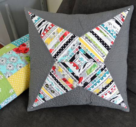Selvage Star Pillow