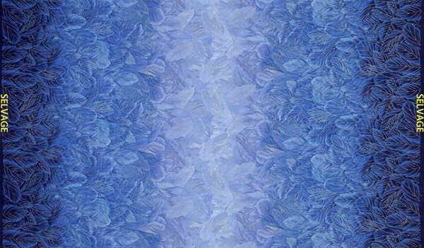 Blue Packed Petals w/Metallic