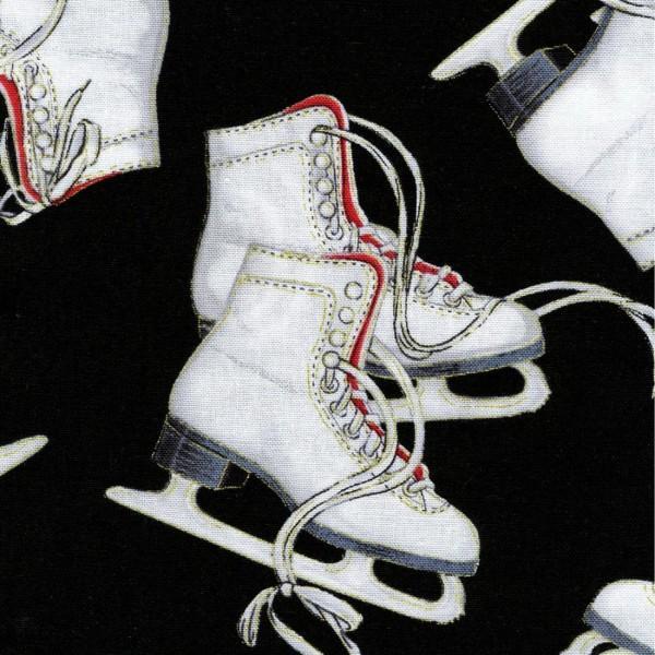 Black Ice Skates w/Metallic