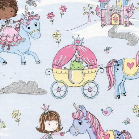 Blue Princess & Unicorns w/Metallic