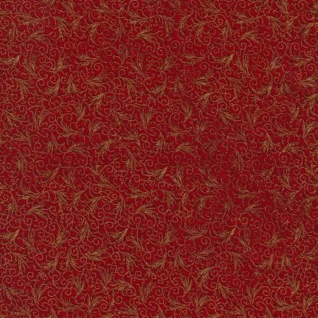 Holiday Bloom Tonal Filagree Echo-CM5500 Red Timeless Treasures