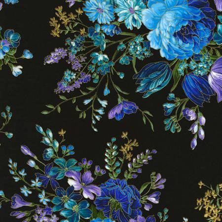 Black Floral w/Metallic CM5871
