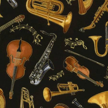 Black Music Instruments w/Metallic