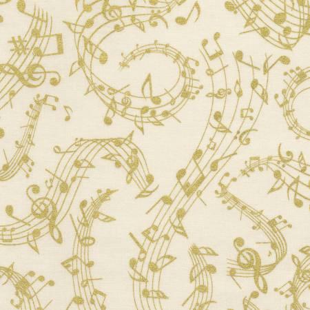 Music CM6125 Cream Music Notes w/Metallic
