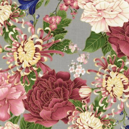 **Grey Floral w/Metallic TT102119