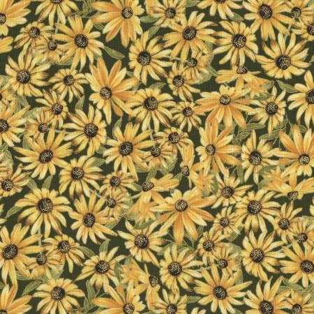 Harvest CM6849 Green Sunflowers w/Metallic