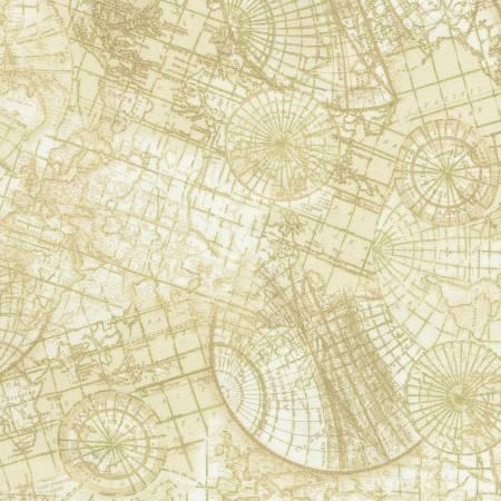 Cream Maps w/Metallic CM6894-CRM
