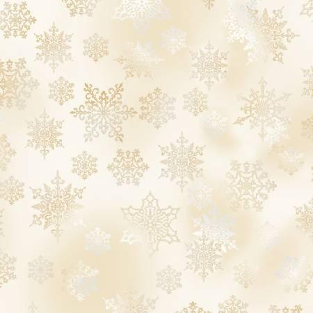 Snow Snowflakes w/Metallic