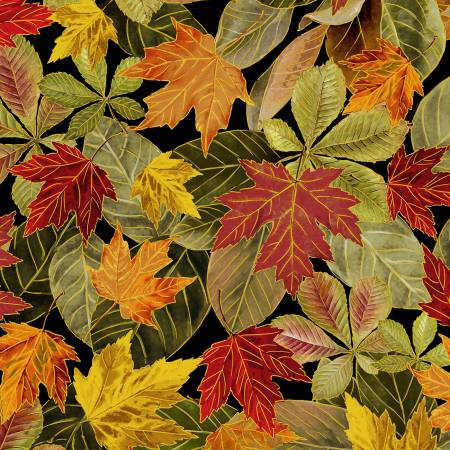 Multi Fall Leaves w/Metallic