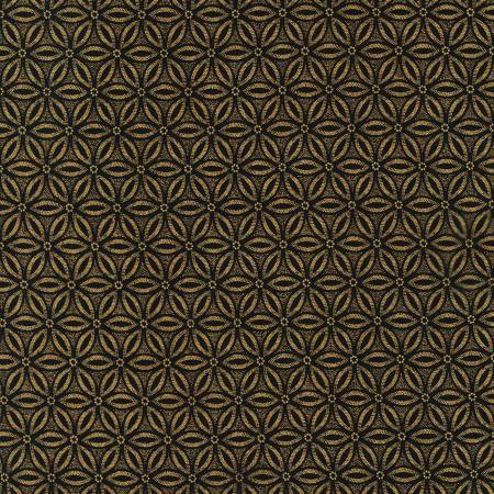 Timeless Treasures Holiday Blenders Geometric - Black (Metallic Gold) (0.45m remnant)