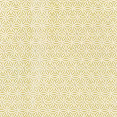 Timeless Treasures Holiday Blenders Geometric - Cream (Metallic Gold)